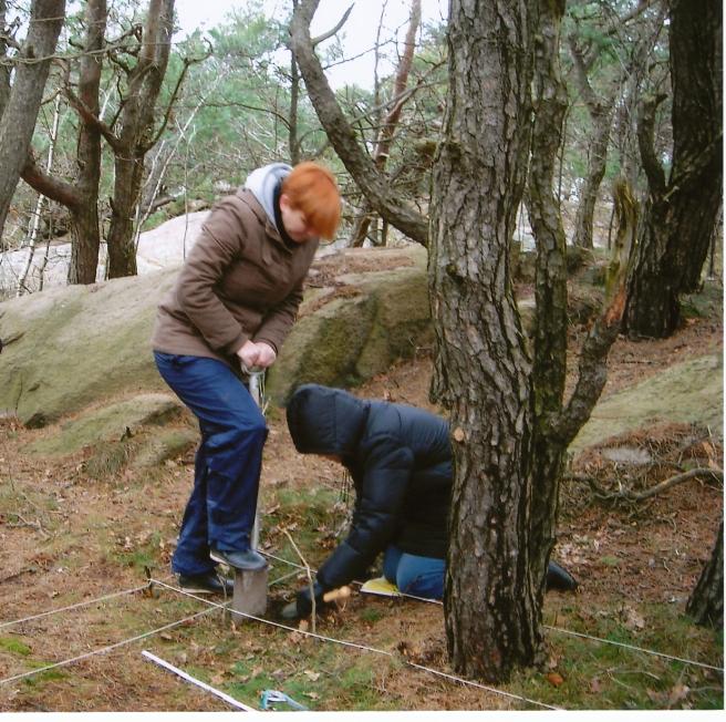 Nina, Birgitta gräver