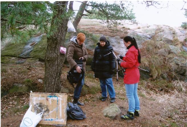 Nina, Birgitta, Martina dokumenterar