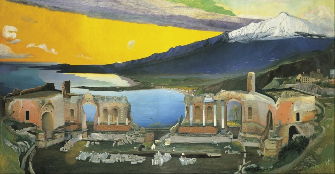 Csontváry_Kosztka,_Tivadar_-_Ruins_of_the_Greek_Theatre_at_Taormina_-_Google_Art_Project