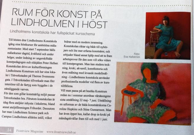 www.frontviewclub.se maj 2015 artikel med Eva o Anna