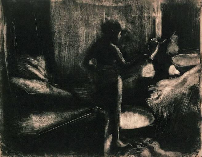 monotyp av Degas